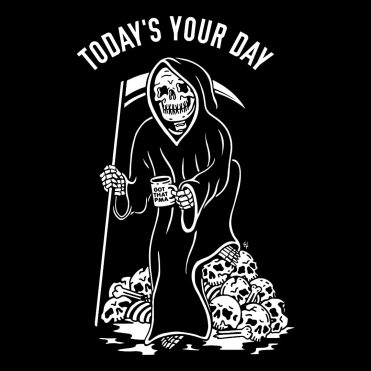 Sketchy Tank Your Day Hooded Sweatshirt Black