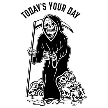 Sketchy Tank Your Day T-Shirt White