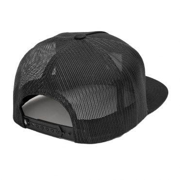 Volcom Box Stone Cheese Snapback Hat Black