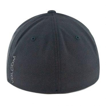Volcom Stone Tech Xfit Flexfit Hat Black