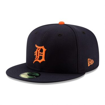 New Era 59Fifty Detroit Tigers 2020 Road Authentic On Field Fitted Hat Dark Navy