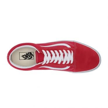 Vans Suede Old Skool Pro Shoe Red White