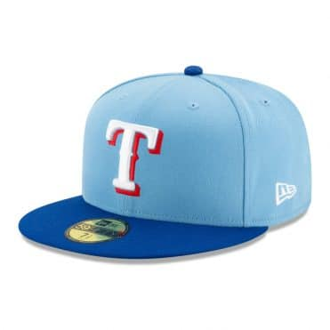 New Era 59Fifty Texas Rangers Alternate 2 Fitted Hat Light Blue