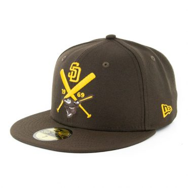 New Era 59Fifty San Diego Padres Crest Fitted Hat Brown